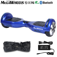 """Megawheels 6.5"""" Bluetooth Hoverboard Blue Electric Self Balancing Scooter UL+LED"""