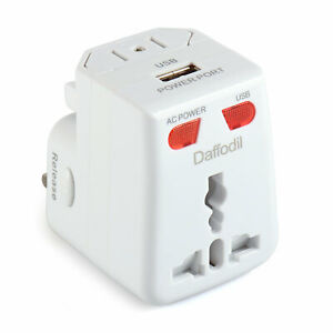 4 In 1 International World Wide Universal Travel Adaptor with USB Charging 150