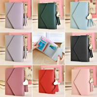 Women's Short Small Wallet Faux Leather Folding Coin Card Holder Money Purse