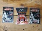 3 pieces Steel Force Phat Head Broadheads 4 Blade 100 Gr. 3 Pk. All 3 items incl
