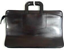 Pegasus Briefcase Burgundy Leather Vintage Attaché Portfolio Document Bag