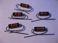Resistor 1W 1.3K 1300 Ohm 1K3 5% Carbon Composition - NOS Qty 5