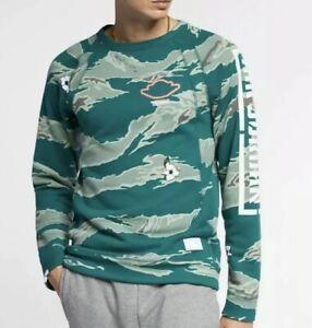 Nike Air Jordan City Of Flight Fleece Crewneck Green White SZ 4XL ( BQ6845-010 )