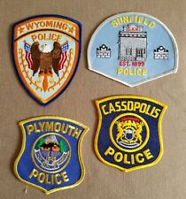 USA - 4 x Different Police Patches - Michigan #14