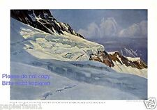 Station chiensde Jungfraubahn XL Art pression 1930 Jungfraujoch Hans Beat Wieland +