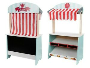 Playtive Junior Wooden Shop And Theatre Stand 2 In 1 Role Play real wood