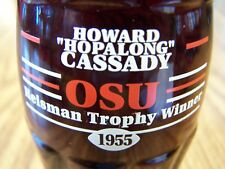 """OSU, Heisman Trophy Winner HOWARD """"HOPALONG"""" CASSADY 1955, 1 - 8 Oz Coke Bottle"""
