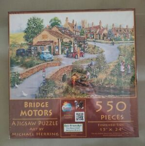 BRIDGE MOTORS Puzzle Michael Herring 550 Pc 15 X 24 Inch Sunout