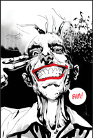 JOKER YEAR OF THE VILLAIN JOCK JETPACK  EXCLUSIVE CONVENTION B&W VIRGIN VARIANT