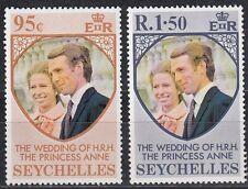 Seychellen /Seychelles Nr. 316-317** Hochzeit Prinzessin Anne