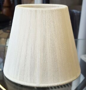 """3"""" x 5"""" x 4"""" Cream Color String Clip-on Shades"""