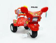 Br New Safe Police Tricycle Kid Toddler Ride on Trike Grow With Me Red Gift