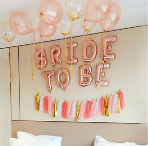BRIDE TO BE Rose Gold  Foil Balloon Wedding  Party  decoration
