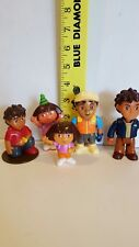 Dora The Explorer Dollhouse Action Figures, 2 Doras & 3 Diegos  - Free Shipping