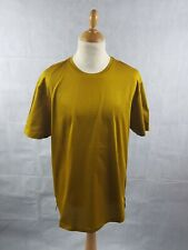 Topman Mustard T-shirt Crew Neck Short Sleeve Premium Cotton Tee Size XXL BNWT