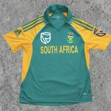 Adidas Cricket Football Soccer South Africa Jersey Men's Size L Yellow & Green