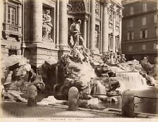 Anderson, Italie, Rome, Roma, fontana di Trevi  Vintage albumen print, Tirag