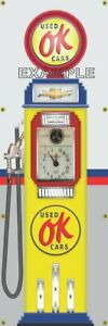 Chevrolet OK Used Cars Gas Pump 2'X6' Vinyl Banner  Dodge Plymouth Drag  NHRA