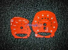 Porsche 981 982 718 Boxster Cayman Instrument Overlay Red / Yellow