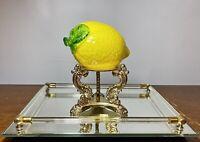 "Vintage Murano Style Blown Art Glass Lemon Fruit Vegetables Cased Colors 5"" x 3"""