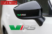 SKODA VRS VINYL SYMBOL MIRROR DECALS STICKERS GRAPHICS x2