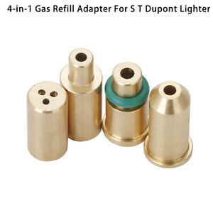 4 in 1 Gas Refill Adapters For S T Dupont Lighter Yellow/Red/Green/blue Caps XE