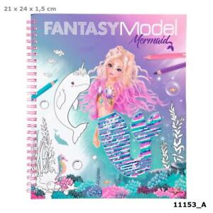 Fantasy Model Mermaid Colouring Book Reversible Sequins Sent First Class Post