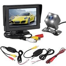 "4.3"" LCD Monitor Wireless Car Rear View Kit HD IR Night Vision Reversing Camera"