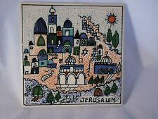Vintage Arpa Scanland Tile Trivet City of Jerusalem