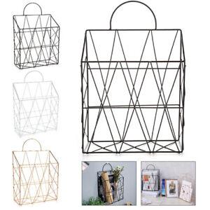 Modern Wire Magazine Rack Newspaper Basket Wall Shelf Post Storage Organizer UK