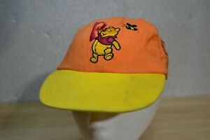 VTG Disney Winnie Pooh Bees Spellout Embroidered Hat Cap Elastic Flaw* 12-24 mos