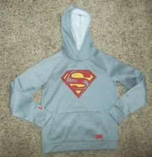 EUC UNDER ARMOUR Storm Youth DC Comics Superman Hoodie Size YLG