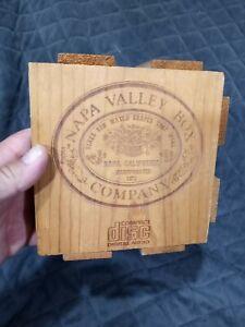 Napa Valley Box Company Wood Crate CD Storage Holder Organizer - Holds 20 CDS