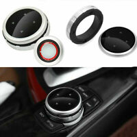 Sliver Knob Trim Cover Multi-Media Control For BMW 1 2 3 4 5 6 7 X1 X3 4  IDRIVE