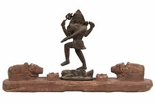 La india & nepal 19. JH. madera Shiva-a Saivite carved wood Group india-népalais