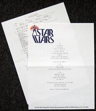STAR WARS REPRO 1977 . MOVIE TEST SCREENING INVITATION & QUESTIONNAIRE . NOT DVD