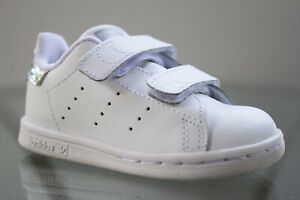 ADIDAS Stan Smith Cf Sneakers Hook and Loop White EE8485 Size 5.5K