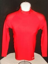 Under Armour Metal Compression Fit Red Mock Collar L/S Shirt Sz. S