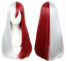 Todoroki Shouto Wig My Hero Academia White Sliver And Red Cosplay Long Wig