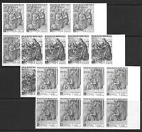 SMOM Sovereign Military Order of Malta 1969 Nativity Set IMPERF BLOCKS of 8 VFNH