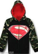 Justice League Superman Zip Up Hoodie Size 7 New Childs Sweatshirt DC Comics