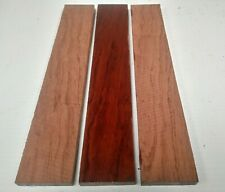 LOT OF 3 PIECES,  BUBINGA  THIN STOCK BOARDS LUMBER CRAFTS WOOD 1/8
