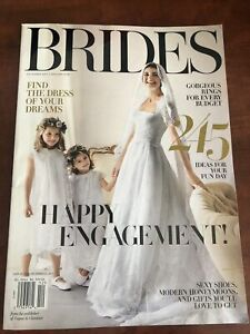 Brides Magazine Dec 2017/Jan 2018 Engagement Sexy Shoes Rings Modern Honeymoons