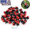 """100X Micro Drip Irrigation Watering Anti-clogging Emitter Drippers on 1/4"""" Tools"""