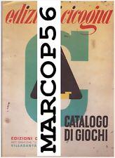 PDF Catalogo di Giochi Tombole Cubi - Edizioni CICOGNA Villasanta Milano - 1959