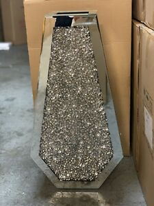 Sparkle Palace Diamond Crushed Crystal Sparkly Silver Mirrored Floor Vase 70CM✅