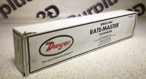 "Dwyer RMC-102-SSV Rate-Master Flowmeter - 10"" Scale, 10-100 SCFH Air"