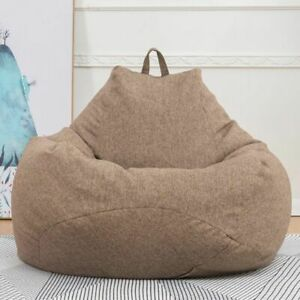 Bean Bag Chiar Cover Only Large Covers Solid Simple Indoor Lazy Lounger No Filli