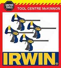 "4 x IRWIN QUICK-GRIP 6"" / 150mm LIGHT DUTY 63kg FORCE ONE HANDED MINI BAR CLAMP"
