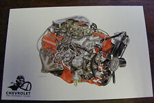 1967 CHEVROLET ONE HUNDRED YEARS ENGINE ILLUSTRATIONS BY DAVID KIMBLE POSTCARD